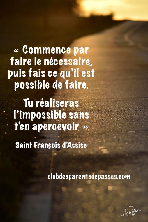 Saint François d'Assise. Commencer la parentalité bienveillante. Décourager face à ses enfants