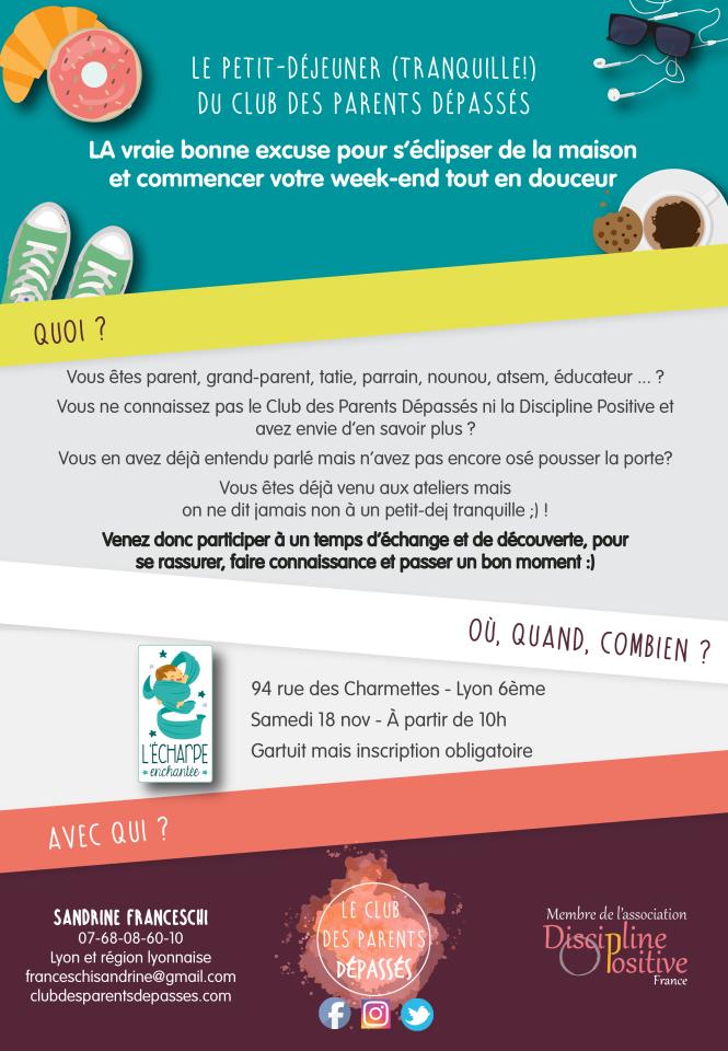 Atelier de parents. Discipline Positive Lyon. Activités week-end Lyon